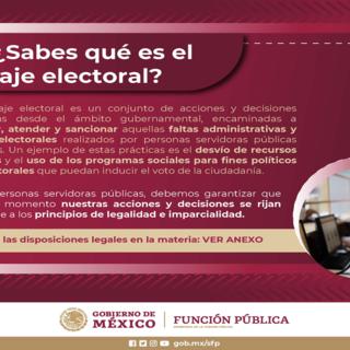 Conductas que deben evitarse antes, durante y después de la jornada electoral de 2021