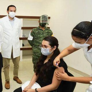 El Gobernador Mauricio Vila Dosal continúa supervisando la aplicación de la vacuna